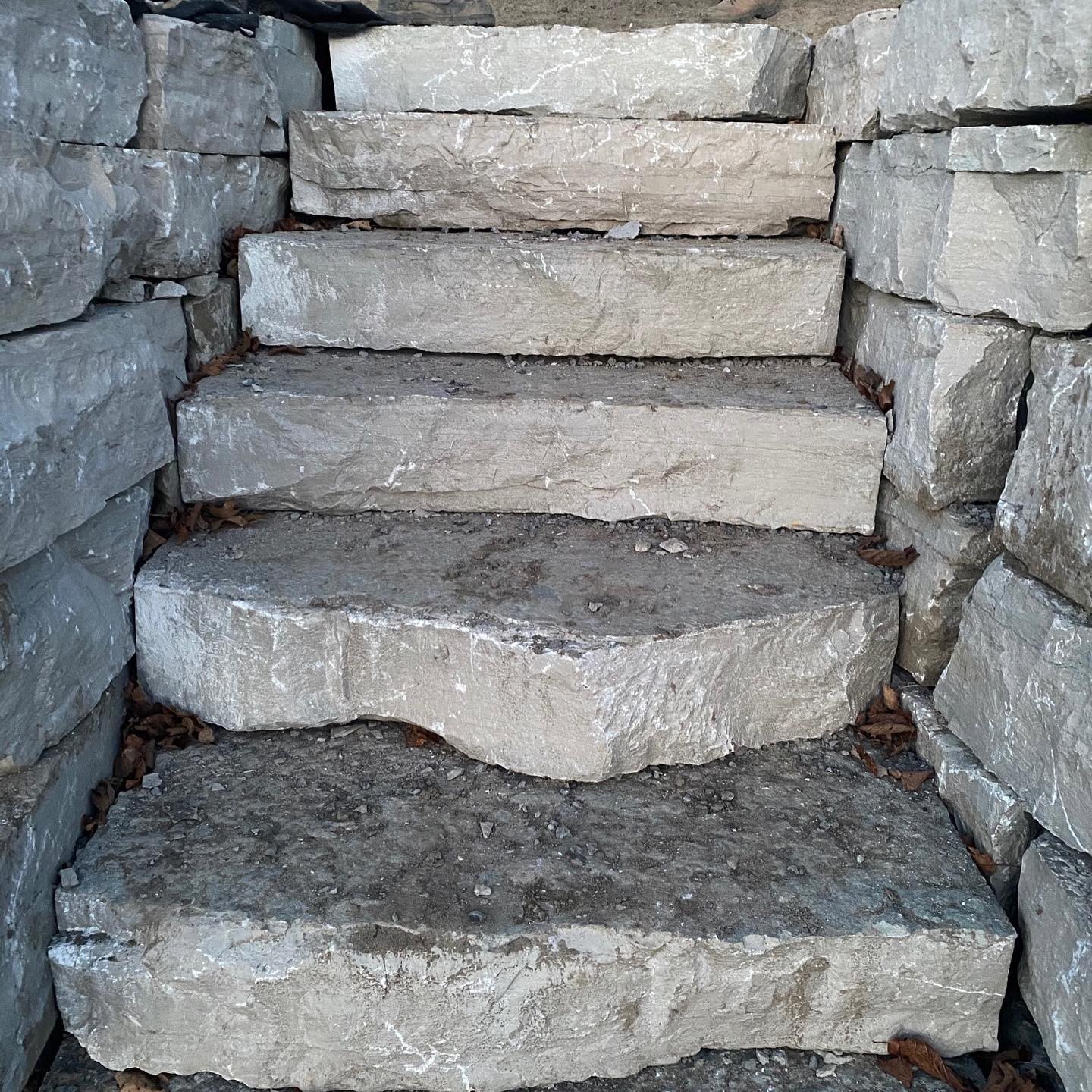 Natural stone stairs.